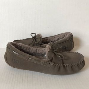UGG Dakota Driving Moccasin Slippers Grey 11 NEW